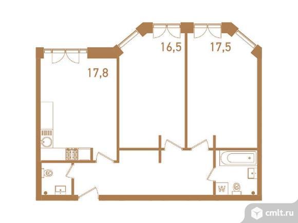 3-комнатная квартира 74,9 кв.м. Фото 1.