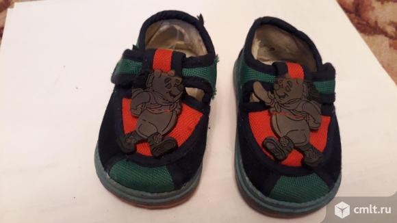 14р 11см текстильные кроссовки. Фото 1.