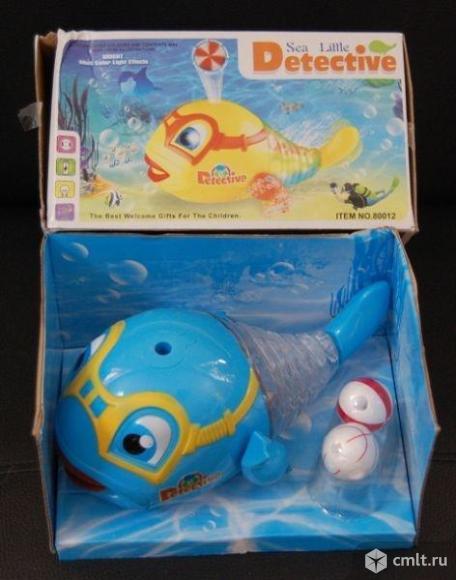 """Игрушка """"Рыбка-Detective"""" музыкальный + светится. Держит шарик на воздухе. Фото 1."""
