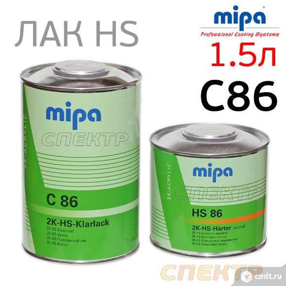 Лак MIPA HS C-86 (1,5л) КОМПЛЕКТ с сильной защитой. Фото 1.