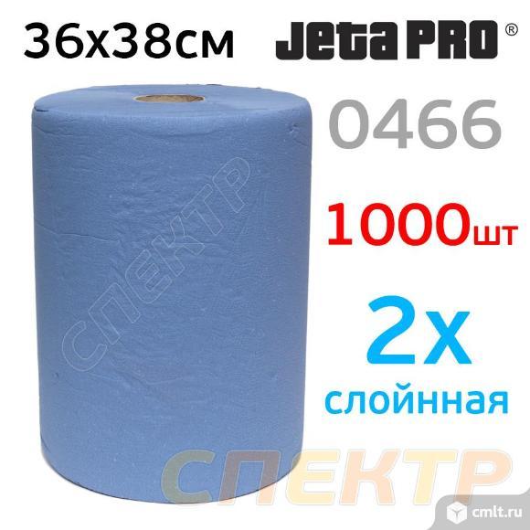 Салфетка 2-слойная рулон (36х38см) синяя JetaPRO. Фото 1.