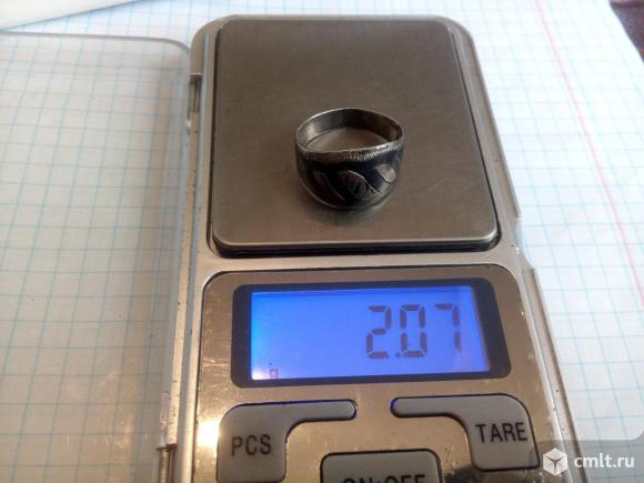 Кольцо кубачи. Серебро звезда 875 (2,07гр). Фото 1.