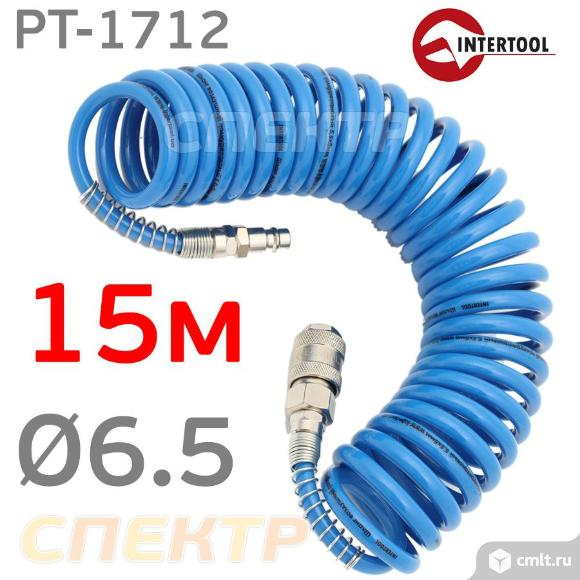 Шланг спиральный эластичный 15м (6.5х10мм) IT. Фото 1.