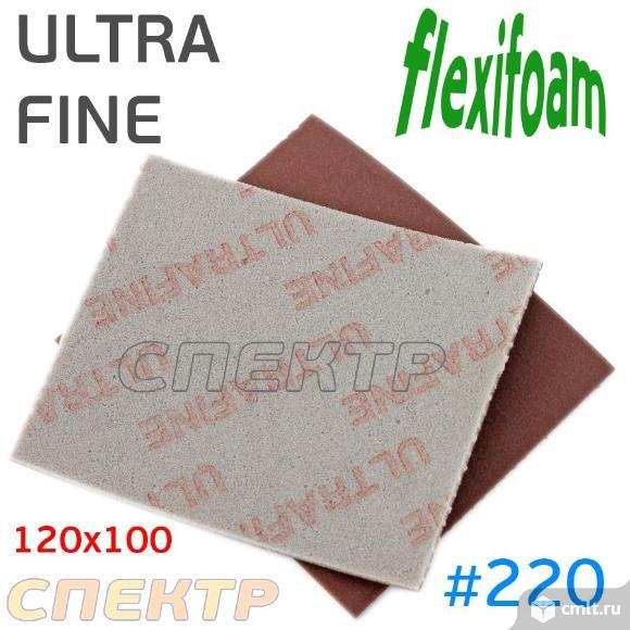 Губка абразивная Flexifoam 120x100мм ULTRA FINE. Фото 1.