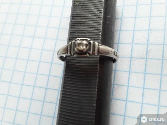 Кольцо Спаси Сохрани. Серебро 925 (1,2гр) Размер 18. Фото 1.