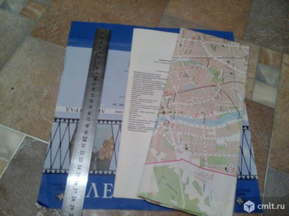Карта Туристическая схема Ленинград 1987 г.. Фото 11.