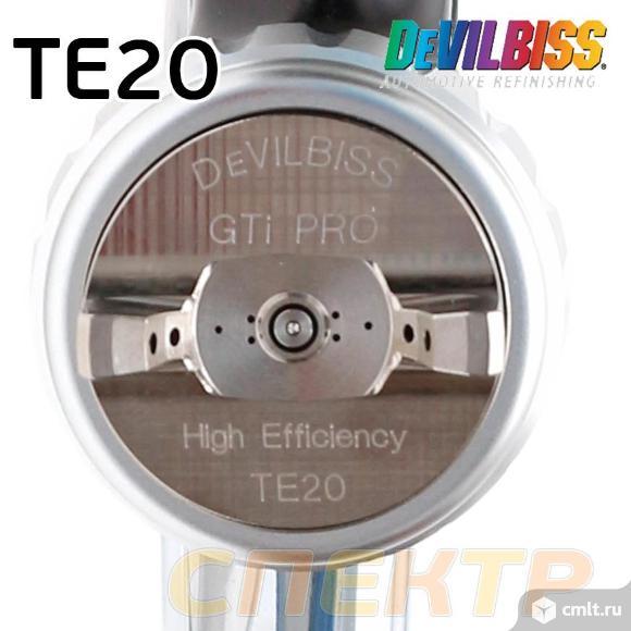 Краскопульт DeVilbiss GTiPro LITE TE20 (1,3мм) SB. Фото 2.