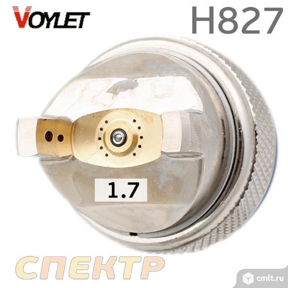 Краскопульт универсальный VOYLET H-827 HVLP 1,7мм. Фото 3.