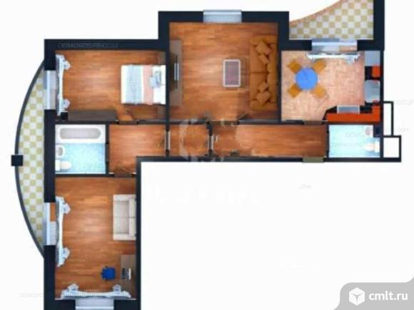 3-комнатная квартира 84 кв.м. Фото 2.