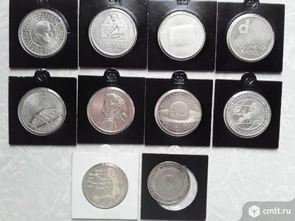 Коллекционные монеты Германия 10 евро. Серебро 0.925. Фото 1.