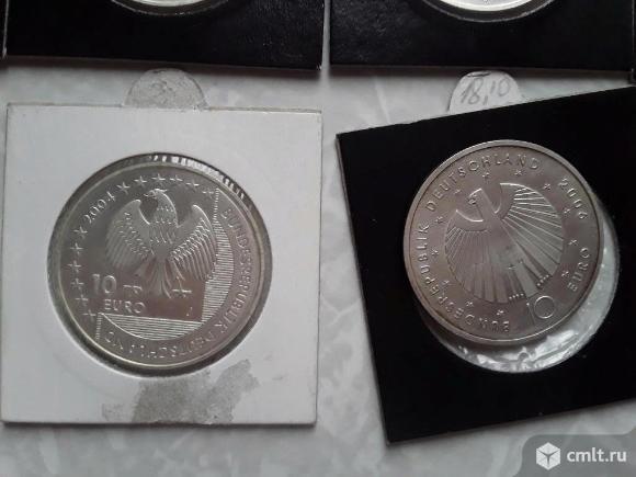 Коллекционные монеты Германия 10 евро. Серебро 0.925. Фото 8.