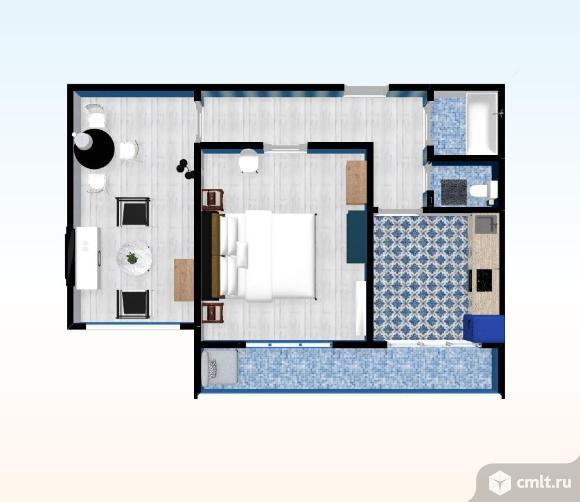 2-комнатная квартира 48,3 кв.м. Фото 1.