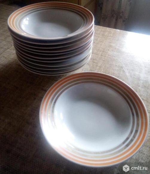 Продаю новые тарелки СССР глубокие и мелкие двух видов. Фото 2.