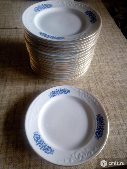 Продаю новые тарелки СССР глубокие и мелкие двух видов. Фото 1.