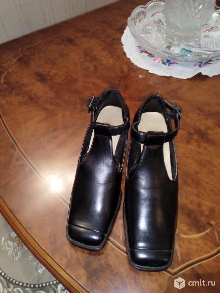 Туфли женские кожаные. Фото 1.