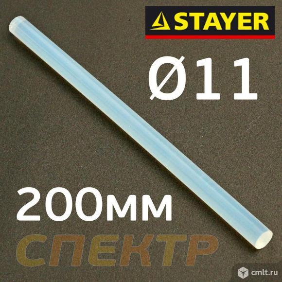 Стержень клеевой D11мм х 200мм (1шт) прозрачный. Фото 1.