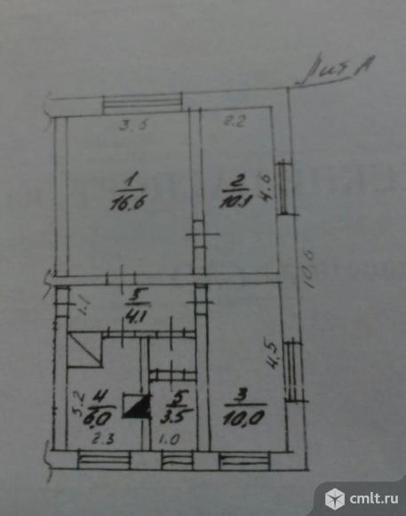 3-комнатная квартира 46,8 кв.м. Фото 1.