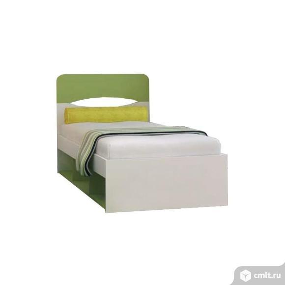 односпальная кровать с подъёмным механизмом зелёная