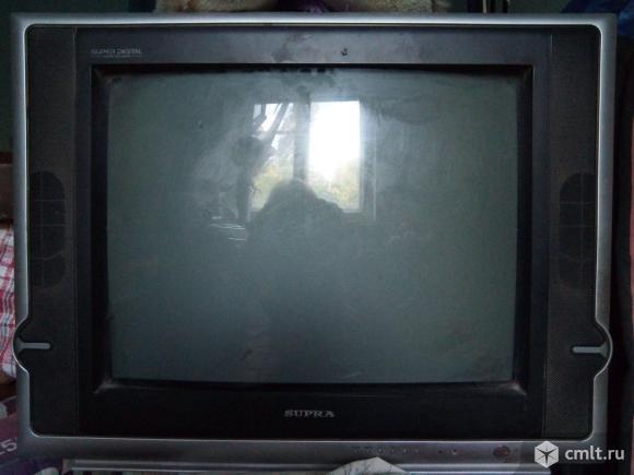Телевизор кинескопный цв. SUPRA. Фото 1.