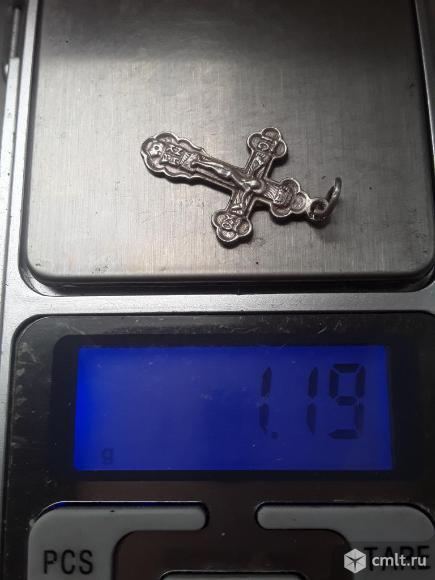 Крестик нательный. Серебро. проба 925, 1.19гр.. Фото 4.