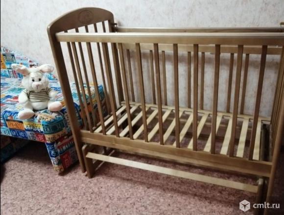 """Кроватка """"мой малыш"""" продольный маятник. Фото 1."""