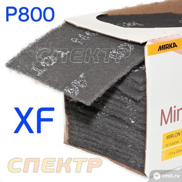 Скотч-брайт 115x230мм Mirlon Total черный Р800 XF. Фото 4.
