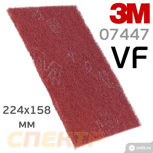Скотч-брайт 3M 07447+ VF красный (224х158мм). Фото 1.