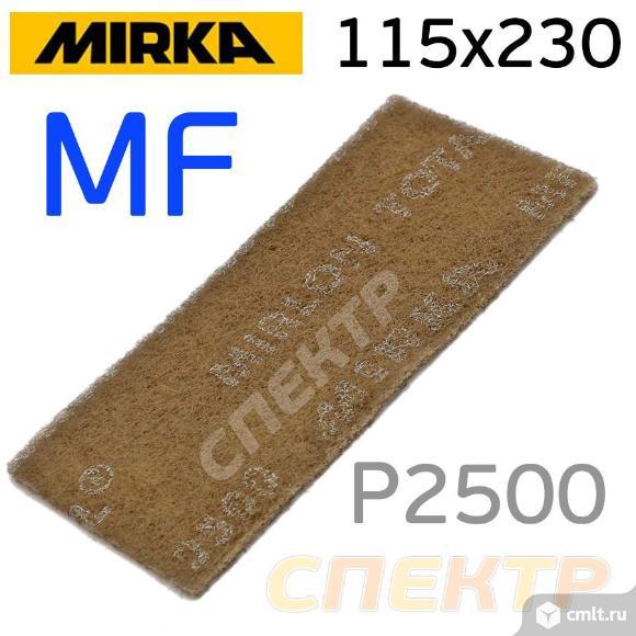 Скотч-брайт Mirka Mirlon Total 115x230мм MF серый. Фото 1.