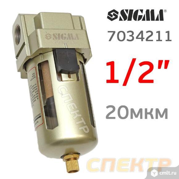 """Фильтр-влагоотделитель 1/2"""" SIGMA ReFine 4000л/мин. Фото 1."""