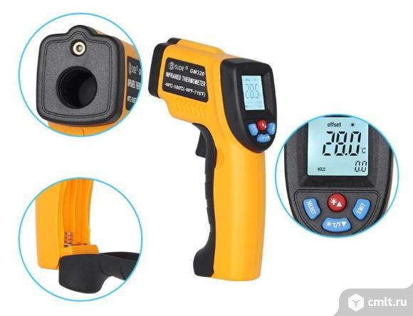 Бесконтактный инфракрасный термометр с EMS. Фото 5.