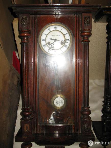 Часы с боем конец 19 века Gustav Becker. Фото 1.