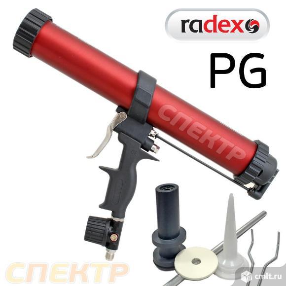 Пневмопистолет для герметика в картриджах RADEX PG. Фото 1.