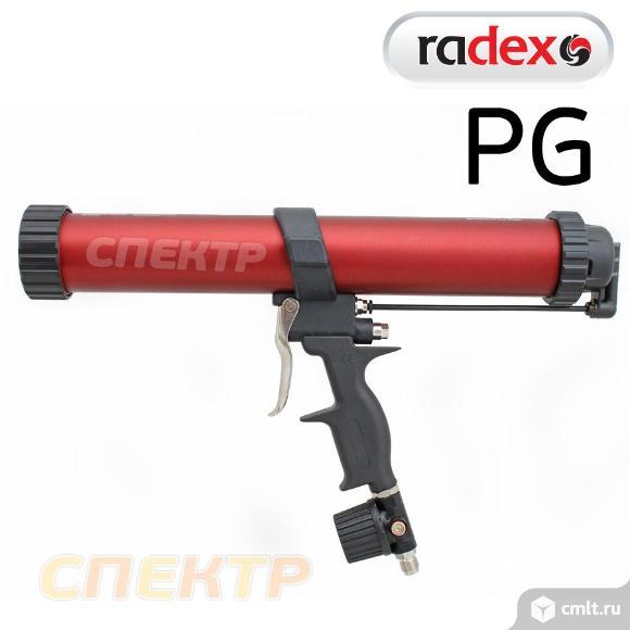Пневмопистолет для герметика в картриджах RADEX PG. Фото 2.
