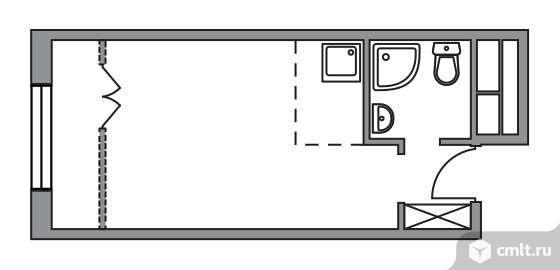 1-комнатная квартира 23,74 кв.м. Фото 1.