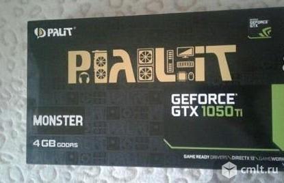 Видеокарта Palit geforce gtx 1050 ti 4 gb. Фото 1.