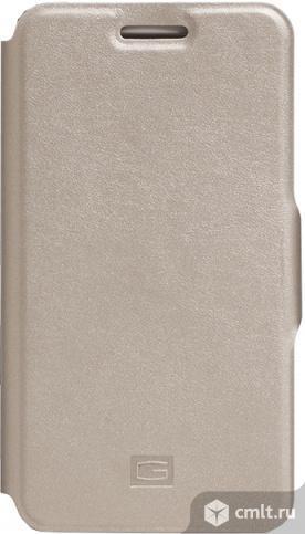 """Чехол-книжка Gresso Грант для смартфона 4.5-4"""" золотистый. Фото 1."""