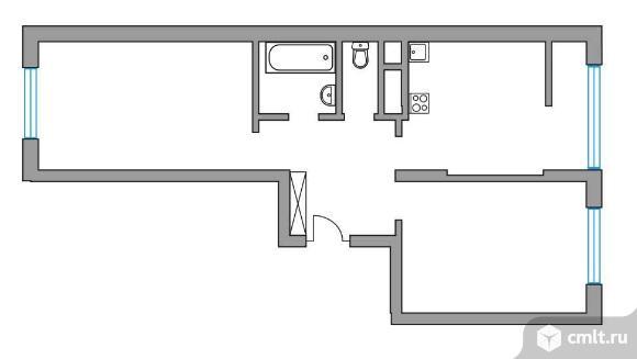 2-комнатная квартира 53,18 кв.м. Фото 1.