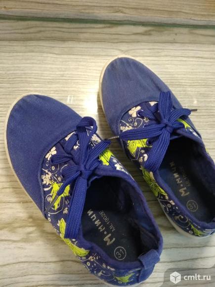Кеды (тапочки со шнурками) для девочки,р.31. Фото 4.