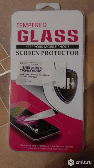 Защитное стекло для телефона Sony Z3 compact. Фото 1.