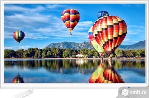 "Новый, гарантия 2 года LED телевизор 23.6"" Hi 24HT101W белый. Фото 1."