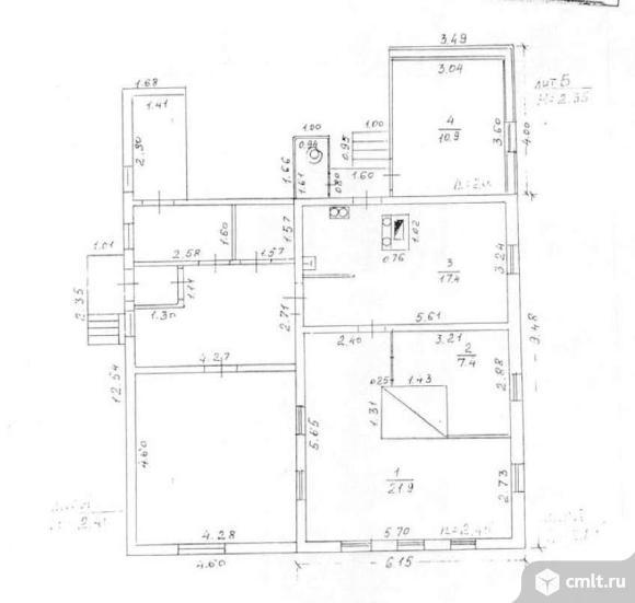 Продается: дом 57.6 м2 на участке 6 сот.. Фото 5.