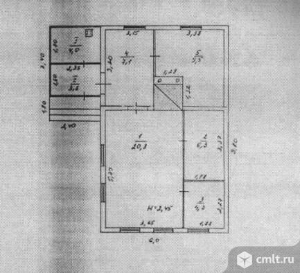 Продается: дом 48 м2 на участке 12.98 сот.. Фото 5.
