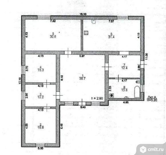 Дом 168 м2 на участке 10 сот.. Фото 7.