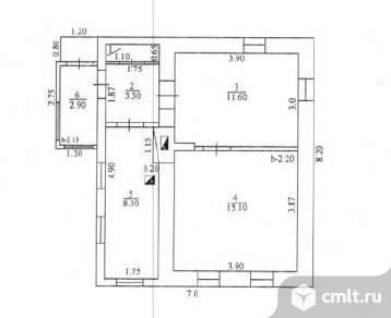 Продается: дом 39.4 м2 на участке 3.44 сот.. Фото 7.