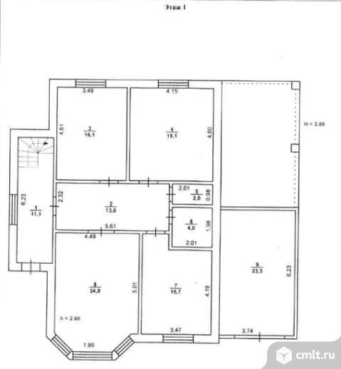 Продается: дом 220.5 м2 на участке 7.29 сот.. Фото 1.