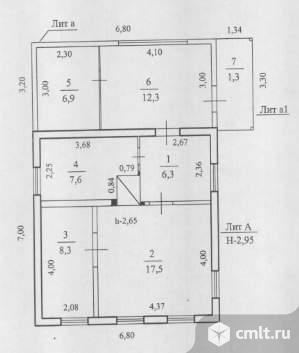 Продается: дом 60.2 м2 на участке 6.54 сот.. Фото 1.