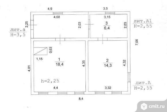 Продается: дом 39.1 м2 на участке 3.74 сот.. Фото 7.