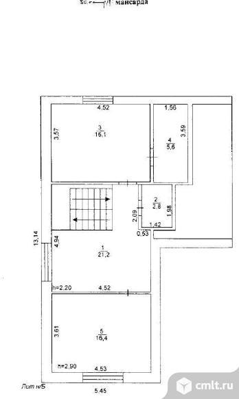 Продается: дом 133.9 м2 на участке 2.19 сот.. Фото 5.