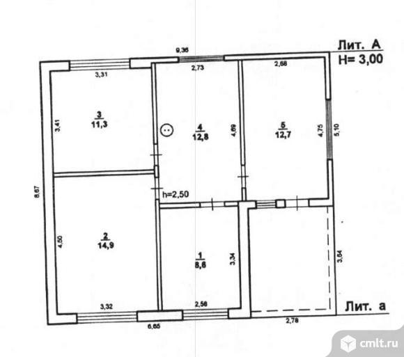 Продается: дом 60.3 м2 на участке 20.23 сот.. Фото 6.