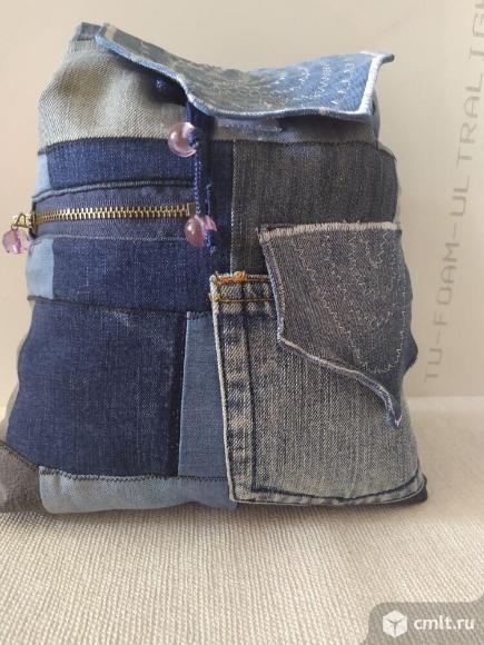 Рюкзаки молодежные джинсовые ручной работы. Фото 4.